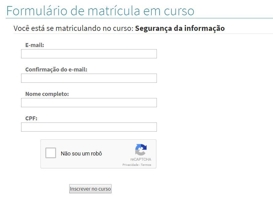Preencha o formulário com seus dados